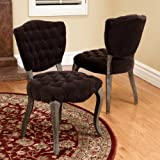 Violetta Chocolate Brown French Design Dining Chair (set of 2)