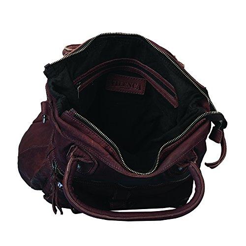 """Vilenca """"40670 Marrone"""" Signore borsa a tracolla, borsa di cuoio per le donne, Dimensioni- L29cmxH35cmxB10cm �?"""