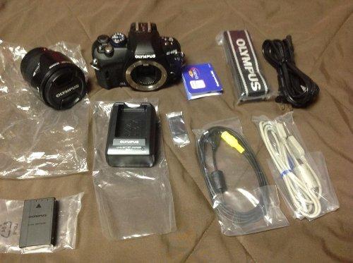 Olympus E-420 Black SLR Digital Camera with 14-42mm Zoom Lens & 2.7