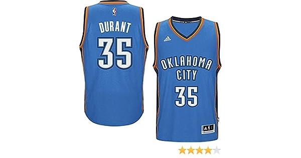 0616162083af Amazon.com  adidas Kevin Durant Oklahoma City Thunder Light Blue 2014-15  New Swingman Road Jersey (Large 14-16)  Clothing