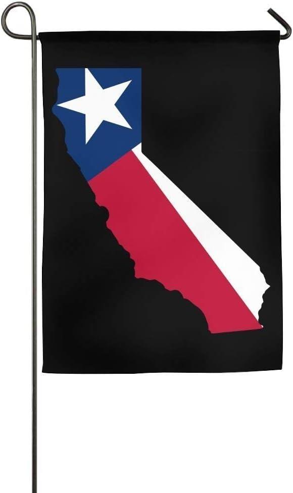 AOHOT Jardín Banderas Decoración de Exterior,Flag California Outline Texas Flag Custom Outdoor/Indoor Decorative Flag For Wedding Anniversary