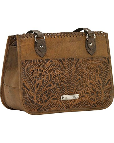 American West Women's Thunderbird Ridge Multi-Compartment Zip Top Tote Distressed Brown One Size by American West (Image #2)
