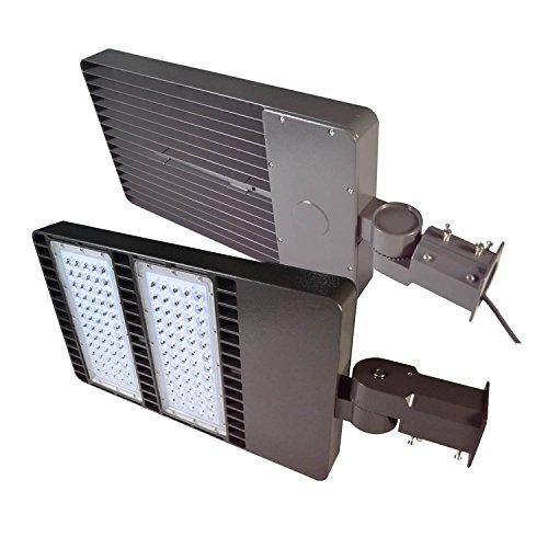 Ainfox 300W LED Shoebox Light, LED Street Light Parking Lots Pole LED Outdoor Site and Area Light Shoebox Light Sports Court light poleROHS ETL DLC CE (300 ()