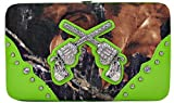 Western Crossed Guns Pistols Gun Women Wallet Camo Camouflage Rhinestones Green Trim