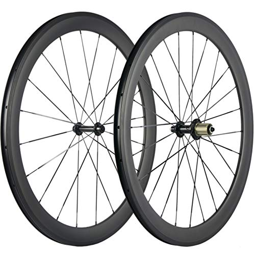 Superteam 38/50/60/88mm Carbon Wheelset 700c Clincher 23mm Wheel UD Matte Finish (50mm/23mm) ()