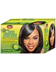 African Pride Olive Miracle Deep Conditioning Anti-Breakage No Lye Relaxer, Regular 1 ea