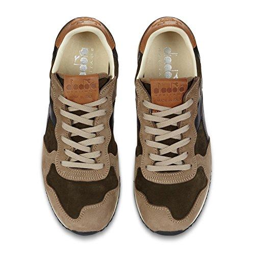 Verde Uomo ITA per Sneakers Diadora Trident C6371 grigio Heritage Rospo Noce 41xC40