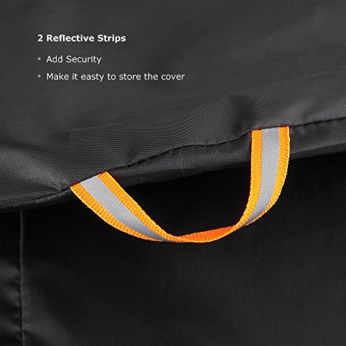 Bike Cover for 2 Bikes, Beeway 190T Nylon Waterproof Bicycle Cover Anti Dust Rain UV Protection for Mountain Bike / Road Bike with Lock-holes Storage Bag by  (Image #3)