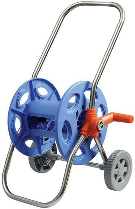 JLDN Carro Portamangueras, Carrete para Manguera Carrete con 2 Ruedas para regar Herramienta de camión de jardín con Ruedas,Blue: Amazon.es: Hogar