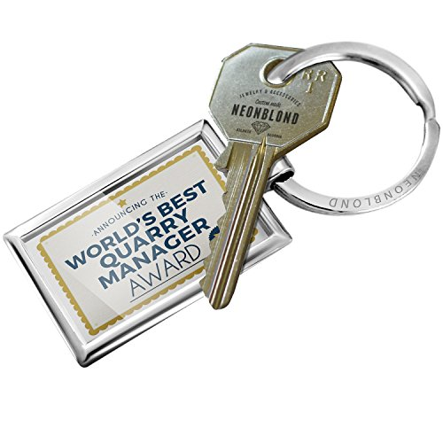 NEONBLOND Keychain Worlds Best Quarry Manager Certificate Award