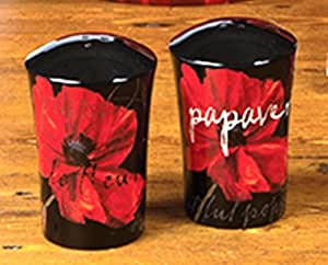 Midnight Poppies Salt & Pepper Shakers by Color Bakery from Certified International