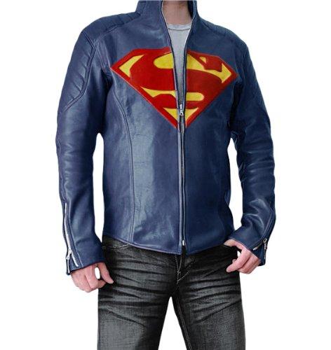 Superman Man of Steel à Smallville Superman Veste de protection en cuir synthétique spécialement conçu pour obtenir: