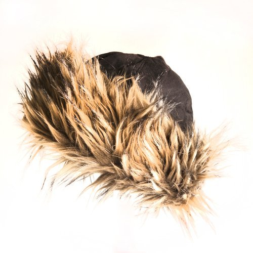 Accessoryo Women's Luxury Faux Fur Trapper Cap with Micro Suede 59cm Brown Mix