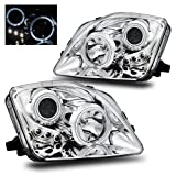 SPPC Projector Led Headlights Halo Chrome For Honda Prelude - (Pair)