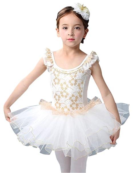 Zhhlaixing Vestido de Danza de Ballet Bordado Leotardo para ...