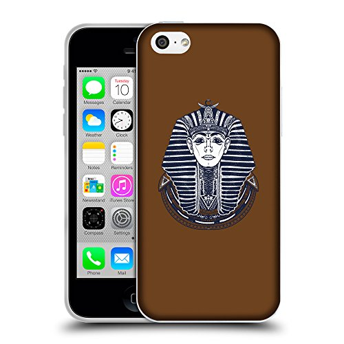 GoGoMobile Coque de Protection TPU Silicone Case pour // Q09480633 Egypte roi 2 Sépia // Apple iPhone 5C