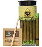 King Palm King Size Natural Slow Burning Pre-Rolled Palm Leafs with Filter Tip (20 Pack)