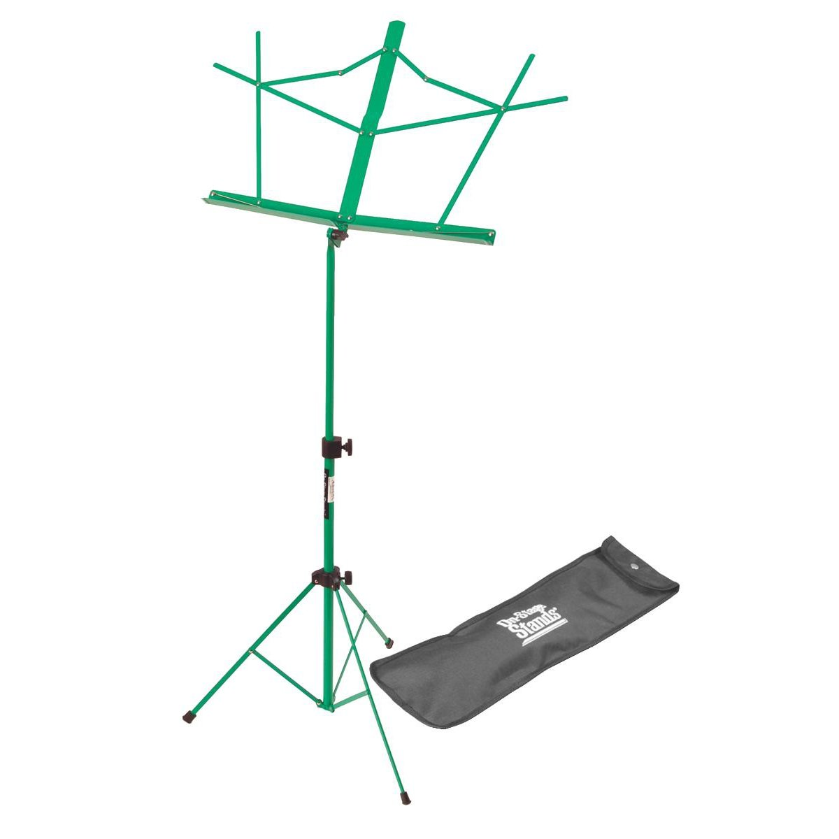 On Stage SM7122GRB Compact Sheet Music Stand with Bag, Green OnStage