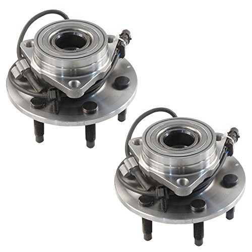 2000 Wheel (4WD Only DRIVESTAR 515036x2 Pair New Front Wheel Hubs & Bearings for Chevy GMC Truck 4x4 AWD w/ ABS)