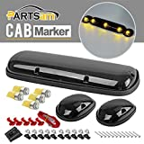 Partsam 3x Smoke Cover Cab Roof Top Marker Lights+5050 28...