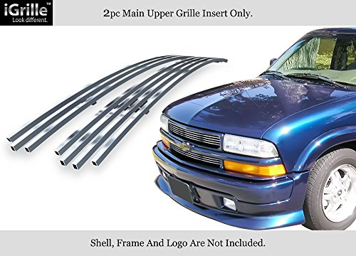 APS Compatible with 98-04 Chevy S-10 98-05 Blazer Stainless Steel Billet Grille Insert C65705C (Chevy S10 Grille Emblem)