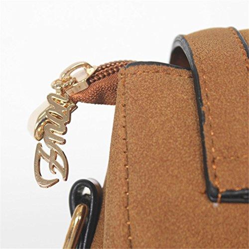 Tanling Vintage Khaki Body Shoulder Ladies Retro Women Shoulder Bags Matte Leather Cross Bags Bag rxqrSCwB