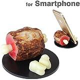 各種 スマートフォン 対応 食品サンプル スマホ スタンド/骨付き肉