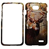 IMAGITOUCH ® LG Optimus L90 / LG D415 Snap On Hard Case Cover Protective Gear Matte Skin - Real Tree Deer Hunting Camo Camouflage Outdoor Wildlife Design