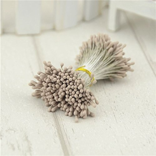 - 800Pcs 1Mm Matte Double Heads Mini Flower Stamen Pistil Wedding Decoration Scrapbooking Wreath Fake Pearl Cards Cakes Flowers