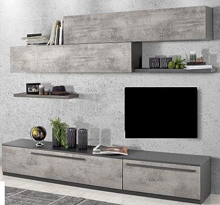 Pared modular para salón – cualquier tipo de televisor. cm. 270 x 46 x 203 h - Número de paquetes 9 - (STP): Amazon.es: Hogar