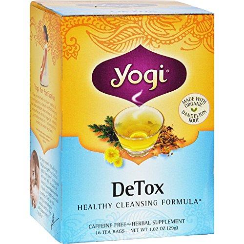Yogi Tea Detox – Caffeine Free – 16 Tea Bags – 70%+ Organic –