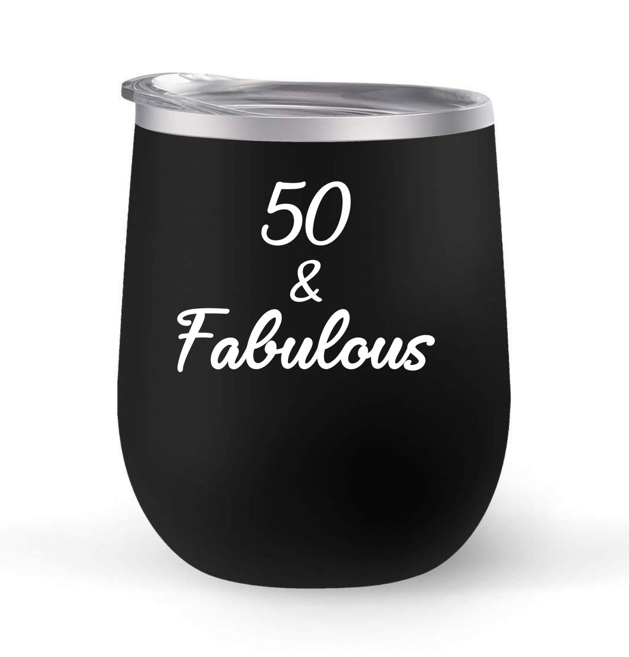 Premier Maars Brand 12oz insulated cup keeps drinks cold or hot Perfect gift For 50th Birthday 50 and Fabulous Choose your cup color /& create a personalized tumbler for Wine Water Coffee /& more