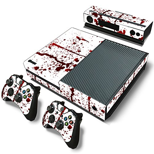 Gam3Gear Pattern Series Decals Skin Vinyl Sticker for Xbox ONE Console & Controller (NOT Xbox One Elite / Xbox One S / Xbox One X) - Blood
