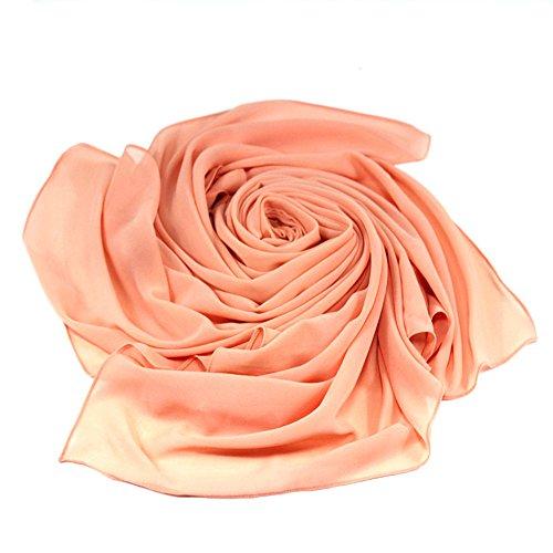 Solid color Fashion Scarf Chiffon Long Hijabs (Grey) - 3