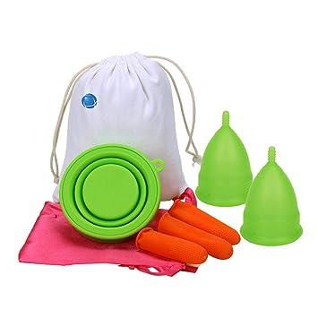 TARTIERY copa menstrual reutilizable silicona lavable para protección femenina higiénica toallas y tampones reutilizable Elimina Dolor de Período para ...