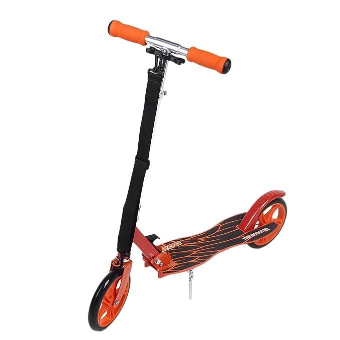 Homgrace Scooter Plegable de 2 Ruedas, Patinete Altura Ajustable y Manillar Ajustable, Carga 120KG para Adultos
