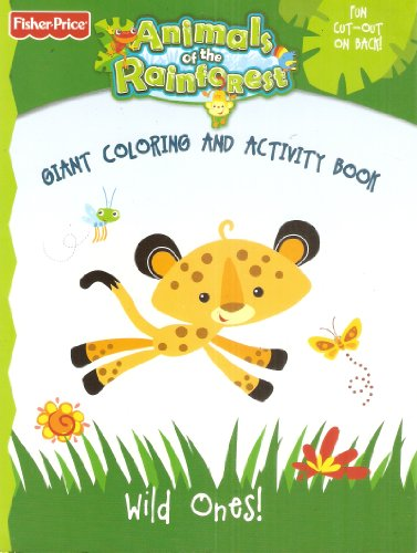 Animals of the Rainforest - Giant Coloring and Activity Book: Wild Ones! -
