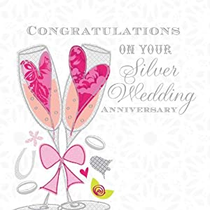 quot congratulations on your silver wedding anniversary