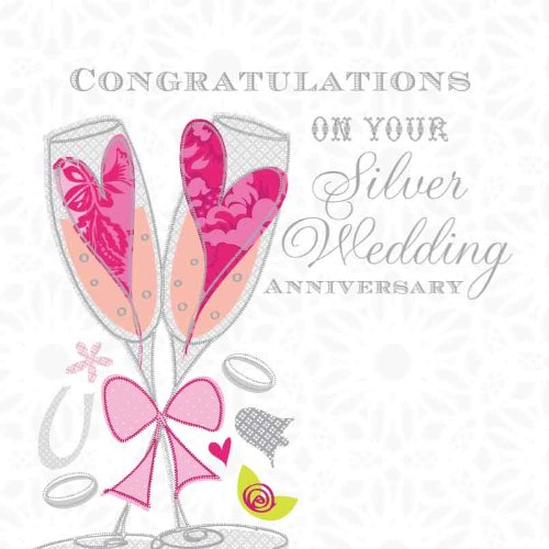 congratulations on your, silver wedding anniversary \