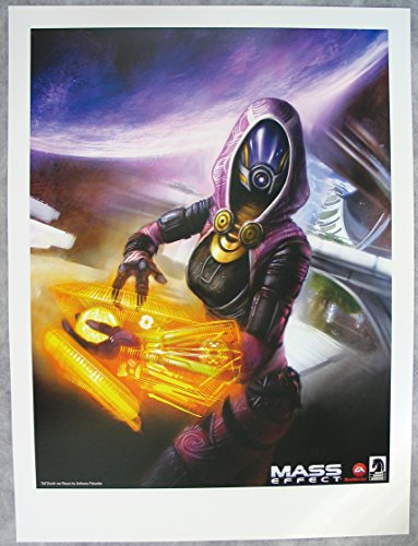 Mass Effect: Tali'Zorah Nar Rayya: Lithograph / Print By Anthony Palumbo from 2012 Sdcc: