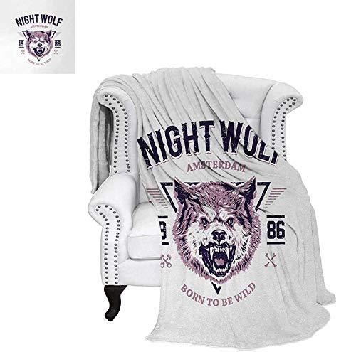 Summer Quilt Comforter Born to be Wild Angry Animal Vintage Grunge Illustration Roaring Savage Retro Digital Printing Blanket 50