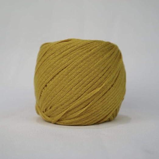 Hilo de algodón de lana gruesa hilo bebé costura - cúrcuma: Amazon ...