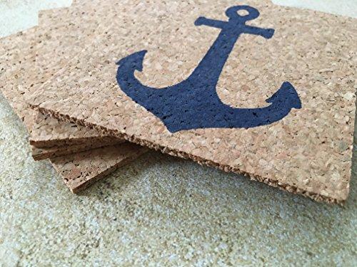 Anchor-Drink-Cork-Coaster-Set