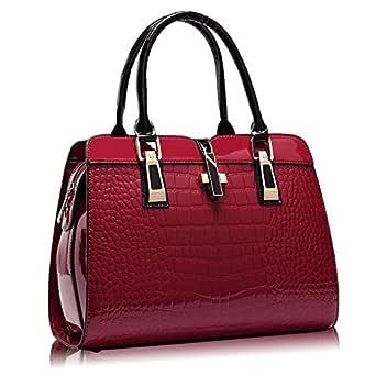 Shoulder Bag for Women - Leather, Red