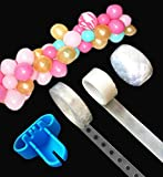 (US) Balloon Decorating Strip 16Ft for Arch Garland Streamer,1pcs Balloon Tying Tool,100 Dot Glue,32Ft Ribbon