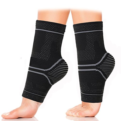 ASOONYUM Compression Ankle Sleeve Support for Basketball Running – Ankle Brace for Injury Recovery, Joint Pain, Plantar Fasciitis Foot Socks with Arch Support, Heel Spurs, Achilles tendon – Sports Center Store