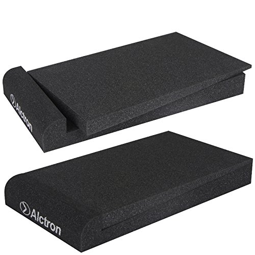 Alctron Studio Monitor Isolation Pads for 5'' Inch Monitors EPP05 High-Density Acoustic Foam for Significant Sound Improvement - Prevent Vibrations and Fits most Stands - 2 Pads