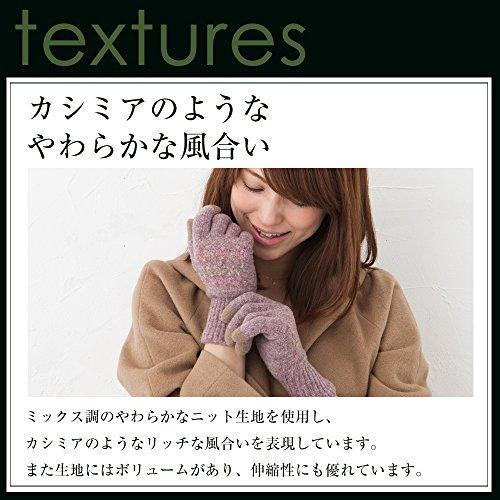 スマホ対応プレミアシュークリーム花柄手袋 日本製