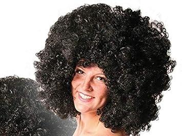 Lote/Conjunto de 12 Piezas - Peluca Afro Grande y Negro