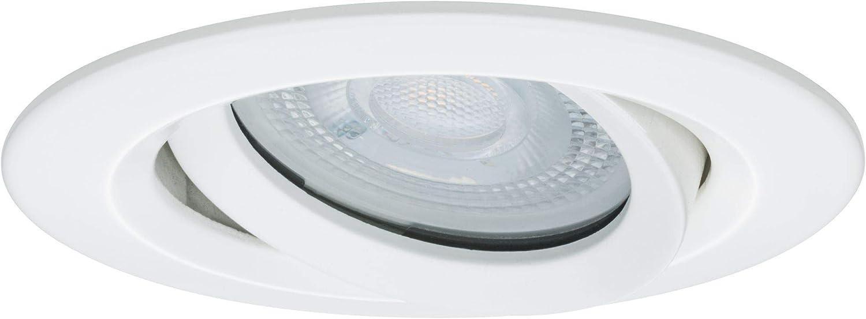 Aluminium GU10 Leuchtmittel schwenkbar Einbauleuchte 7 W Wei/ß matt Paulmann Leuchten Paulmann 92898 LED Nova Einbaustrahler rund Spot IP65 strahlwassergesch/ützt 7W 3er-Komplettset inkl